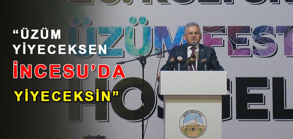 Başkan Büyükkılıç, Üzüm Festivali'ne Katıldı