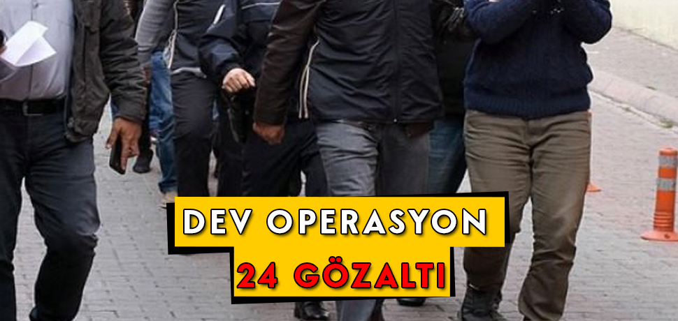 Kayseri'de Uyuşturucu Operasyonu: 24 Kişi Gözaltında