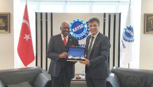 Ruanda Büyükelçisinden KAYSO'ya Ziyaret