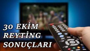 30 Ekim reyting sonuçları, Sen Anlat Karadeniz, Afilli Aşk, Kurşun