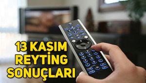 13 Kasım reyting sonuçları, Afilli Aşk, Sen Anlat Karadeniz, Kurşun