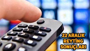 22 Aralık reyting sonuçları, Savaşçı, O Ses Türkiye, Gülbin Tosun