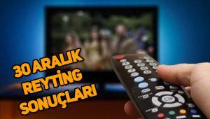30 Aralık reyting sonuçları, Çukur, Sefirin Kızı, Fatih Portakal