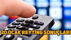 20 Ocak reyting sonuçları, Sefirin Kızı, Çukur, Milyoner, Fatih Portakal