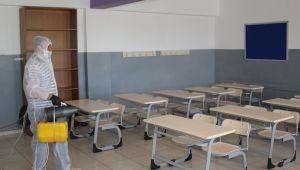 Hacılar'da okullar sınav öncesi dezenfekte edildi