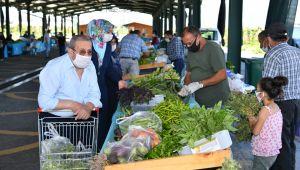 Doğal Ürünler Bahçesi ve Pazarı Kayserililerin ilgi odağı oldu