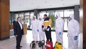 Büyükşehir'den filyasyona 63 araç ve 84 personelle destek