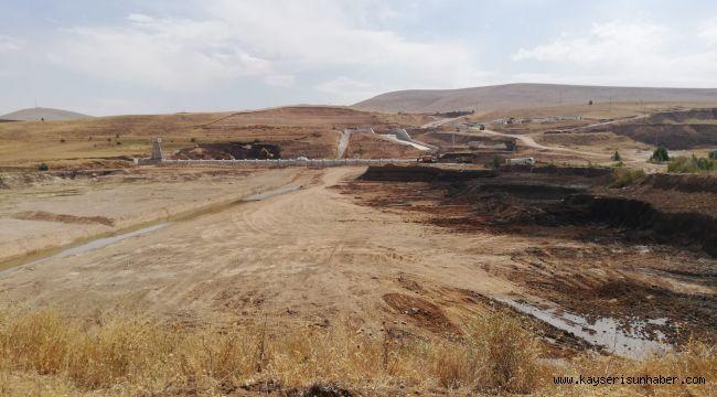 Kayseri Pınarbaşı Panlı Barajı çalışmaları devam ediyor
