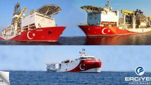 Yavuz, Fatih ve Oruç Reis gemilerinde Erciyes Çelik Halatları Kullanılıyor