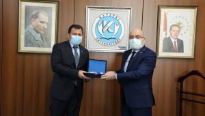 Gençlik Spor İl Müdürü Kabakcı, KAYÜ Rektörü Karamustafa'yı ziyaret etti