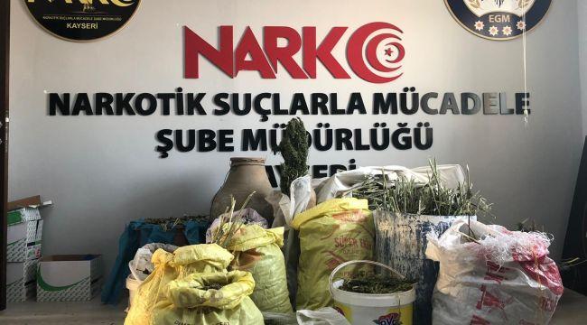 Kayseri'de 58 kilo esrar ele geçirildi