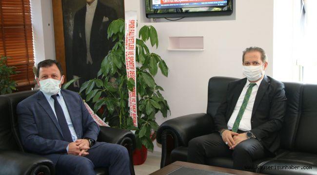 Milli Eğitim İl Müdürü Ekinci'den, Gençlik ve Spor İl Müdürü Kabakcı'ya ziyaret