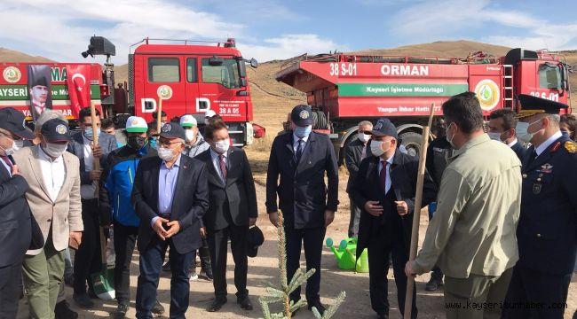 Vali Günaydın: 2020 sonuna kadar Erciyes'te 5 milyon ağaç dikmeyi hedefliyoruz
