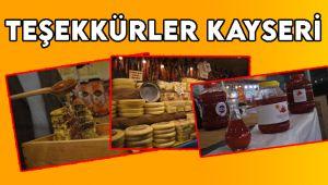 Teşekkürler Kayseri