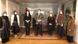 Kadın kollarından Başkan Palancıoğlu'na ziyaret
