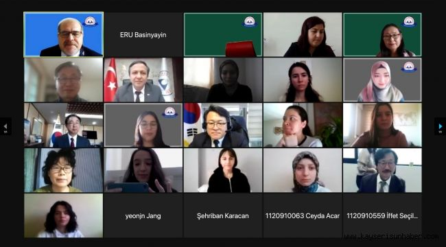 ERÜ'de 1. Uluslararası Kore Çalışmaları Konferansı düzenlendi