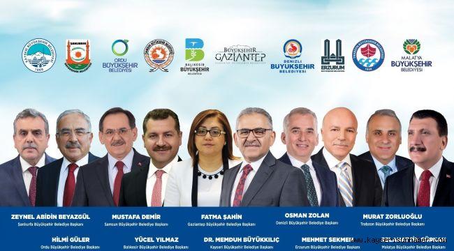 9 büyükşehir başkanı Kayseri'yi keşfedecek