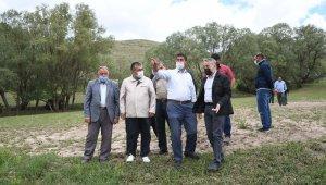 Selden zarar gören arazilerde inceleme yapıldı