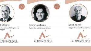 Turkishtime'ın Kimya Bilimine Yön Veren 100 Türk Araştırmasında ERÜ'den 3 Öğretim Üyesi Yer Aldı