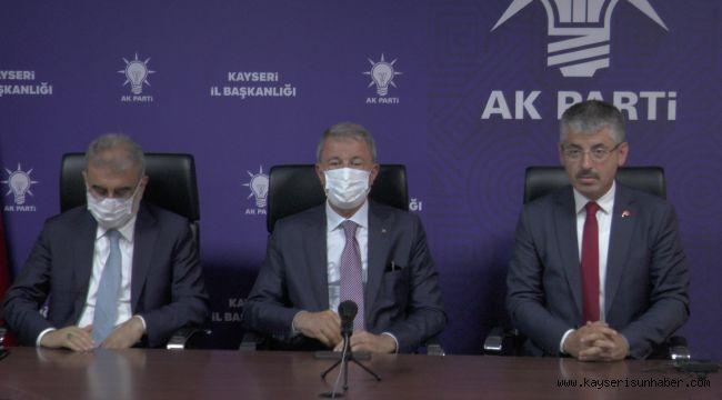 """Bakan Akar: """"Şehitlerimizin kanlarının yerde kalmaması için kararlılıkla mücadelemizi sürdürüyoruz"""""""