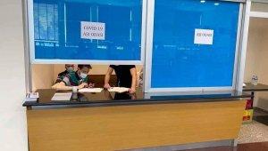 Kayseri Havalimanında Aşı Merkezi hizmete girdi