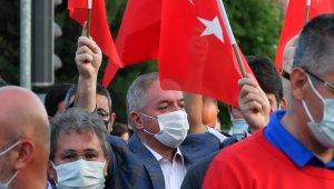 Nursaçan, Demokrasi Yürüyüşüne katıldı