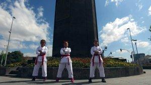 Genç karatecilerden Kayseri klibi