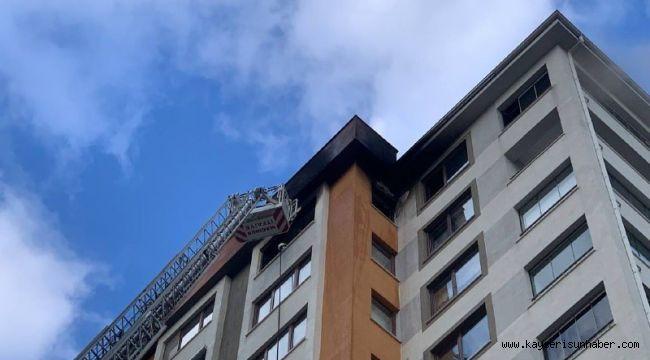 13. katta çıkan yangın itfaiye tarafından söndürüldü