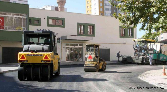 Talas'ta asfalt çalışmaları hız kesmiyor